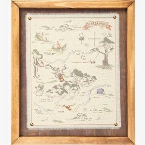 Disney Winnie the Pooh 100 Acre Wood Framed Map